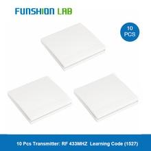 цена на FUNSHION Wall Remote Control Switch 433Mhz Wireless RF Transmitter AC 220V 12V 100V 110V Receiver For Smart Home Lights Switches