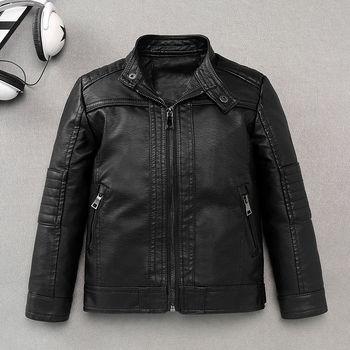 2021 jesienno-zimowa nowe dziecięce kurtki ze sztucznej skóry dla chłopców modna kurtka dla dzieci płaszcze dla dzieci fajny płaszcz odzież wierzchnia D320 tanie i dobre opinie luyaoskyen Na co dzień Poliester Faux leather CN (pochodzenie) Stałe REGULAR MANDARIN COLLAR Pełna Pasuje prawda na wymiar weź swój normalny rozmiar