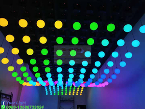 Image 5 - تأثير موجة الحديثة الملونة الحركية ضوء رفع الكرة للمرحلة DJ ديسكو ثلاثية الأبعاد حتى أسفل رفع الارتفاع 0 م 5 م DMX RGB LED لمبات كروية متحركة