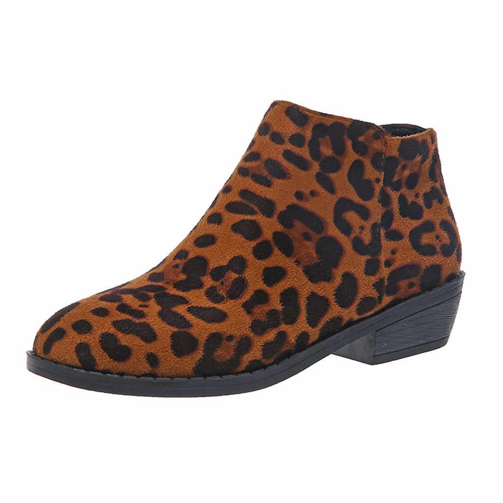 Çizmeler Womens kadın Lady Retro leopar yılan baskılı moda patik moda rahat roma tarzı kısa yarım çizmeler ayakkabı