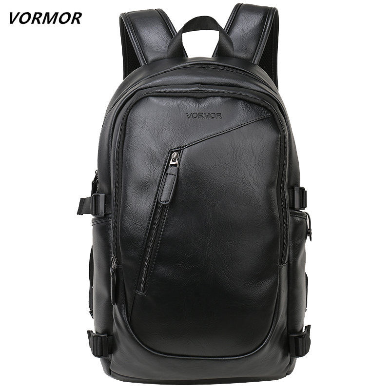 2019 VORMOR Brand Waterproof 15.6 Inch Laptop Backpack Men Leather Backpacks For Teenager Men Casual Daypacks Mochila Male