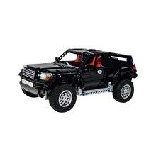 AWD 2061 SUV Off-road Vehicle Mechanical Pull Back Building Blocks Educational Kids City Technic Car Bricks Toys Boys недорого