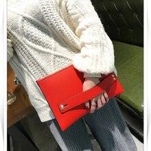 Women Handbag Evening-Bags Clutch-Bag Mantang Female Fashion PU Envelope Jin Day Red