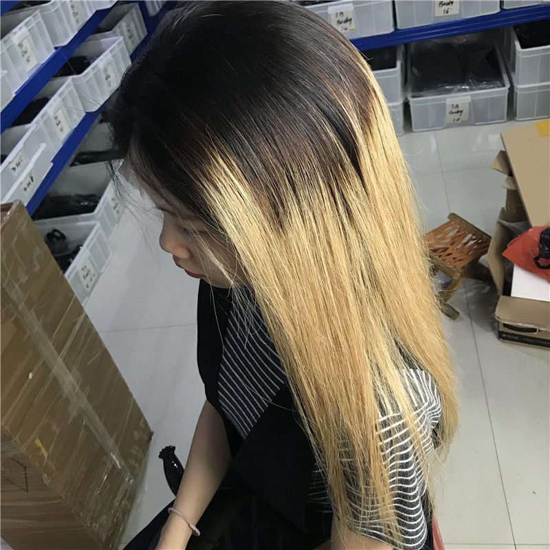 6 1b 4 27 ombre color human hair wig