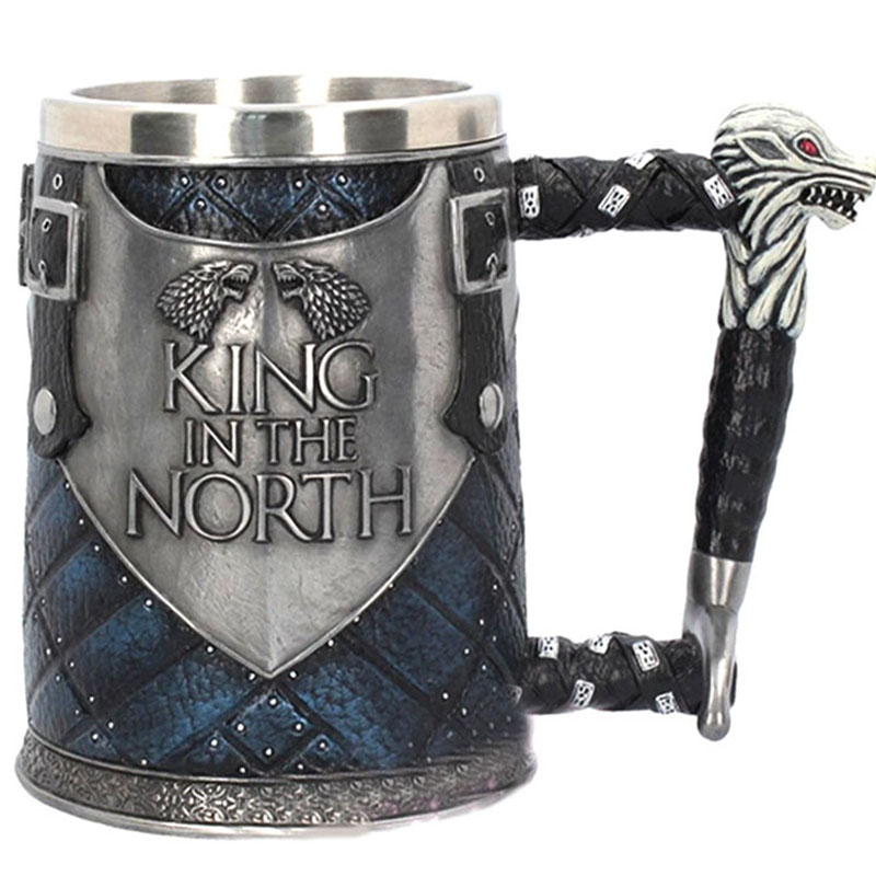 Game of Thrones Beer Mug Dragon King In The North Stainless Steel Resin Coffee Beer Stein Cups and Mugs Drinkware Christmas Gift|Mugs| |  - title=