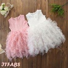 Princess Chic Toddler Baby Girl Clothing Party Tutu Dress Christening Multi Layers Tassel Mesh Pink White Floral