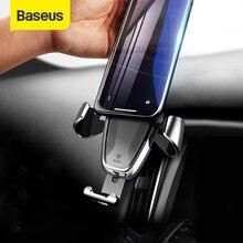 Baseus-Soporte Gravity para teléfono móvil, Clip de montaje para ventilación de aire, GPS, 360 grados, para iPhone, Samsung