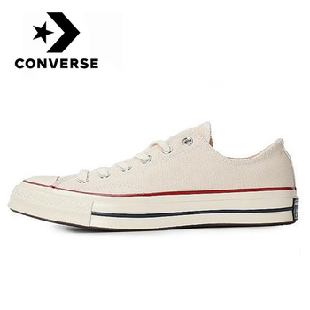 Original Converse Chuck Taylor All Star 70 OX men and women unisex Skateboarding sneakers leisure White Beige flat canvas Shoes stylish skateboarding shoes unisex classic white shoes men women leisure waterproof air cushion skateboard shoes flat sneakers