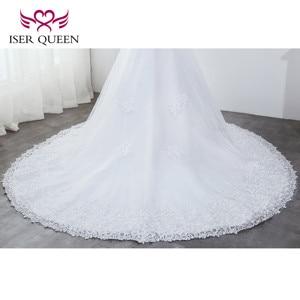 Image 5 - O neck pesado beading sereia vestido de casamento branco puro borla vestido de noiva bordado tule rendas até vestidos de casamento wx0042