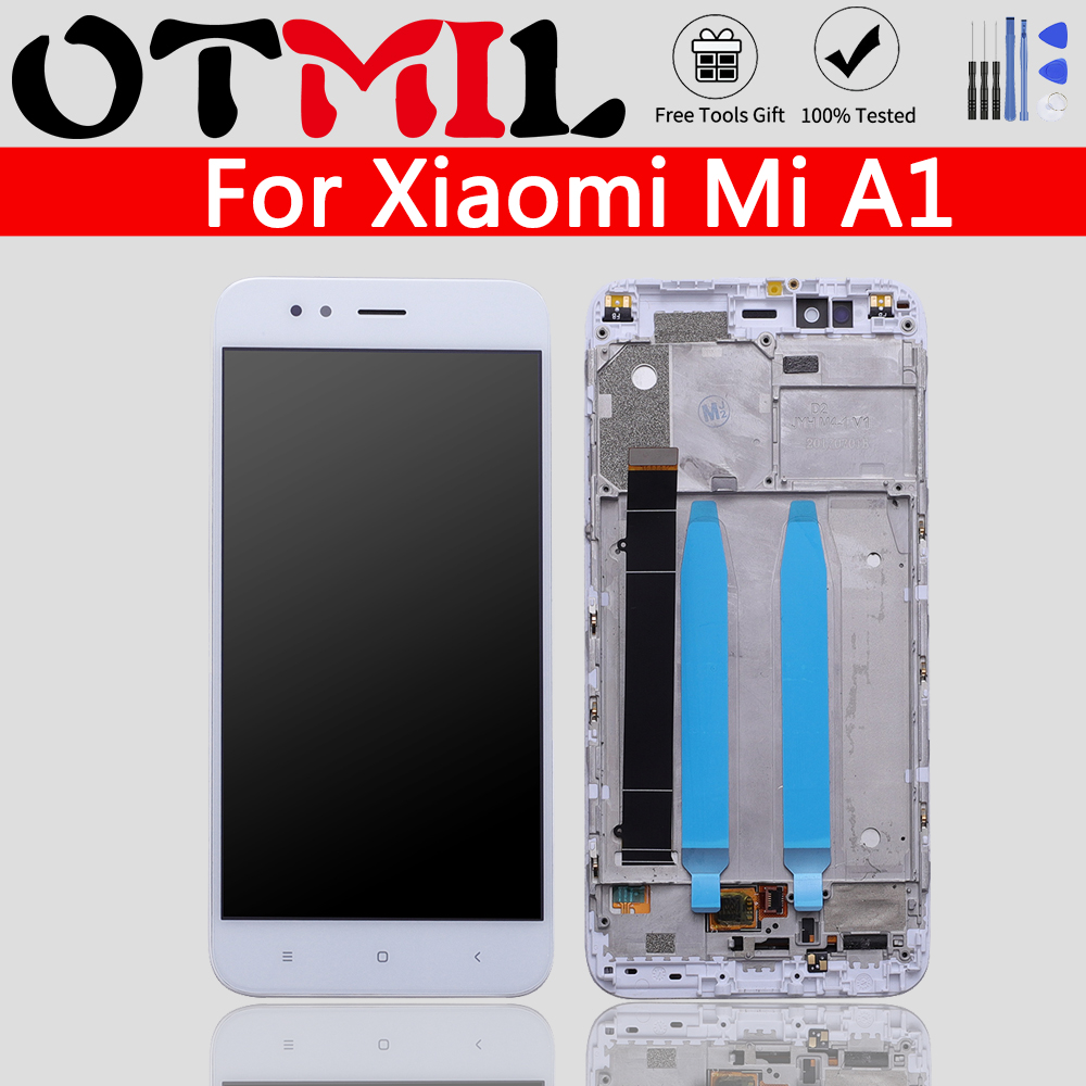 "5.5"" Display For Xiaomi Mi A1 LCD with Frame Touch Screen Replace For Xiaomi Mi A1 Digitizer High Quality MiA1 Mi 5X"