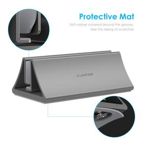 Image 2 - Aluminum Space Saving Vertical Desktop Stand for MacBook Air/Pro 16 13 15, iPad Pro 12.9,  Chromebook and 11 to 17 inch Laptop