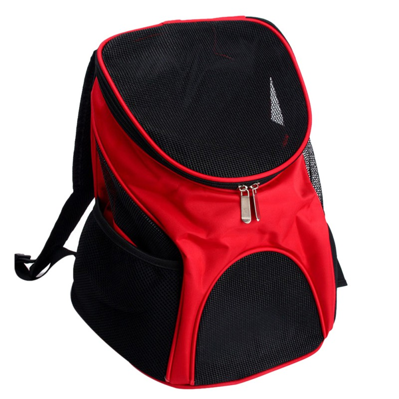 Pet Travel Outdoor Carry Cat Bag Backpack Carrier Products Supplies For Cats Dogs Transport Animal Small Pets Rabbit Red