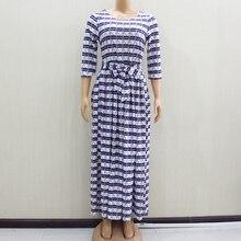 2020 ファッションデザイン新着アフリカ Dashiki スリムでエレガントなカジュアルブルーレディースロングパーティーファッション女性ドレス