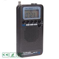HRD 737 Digital LCD Display Full Band Radio Portable FM/AM/SW/CB/Air/VHF World Band Stereo Receiver Radio with Alarm Clock LX9A