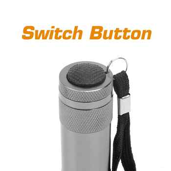 Everbrite Tactical Flashlight Mini LED Torch Light LED Powerful Flash light Zoomable FlashLight Lamp 18PC/Lot