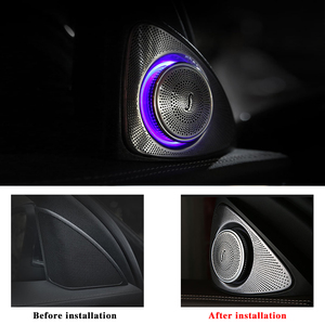 Image 3 - 64 colors rotating tweeter LED light for W213 ambient lights for Mercedes benz E class car left right door side treble speakers