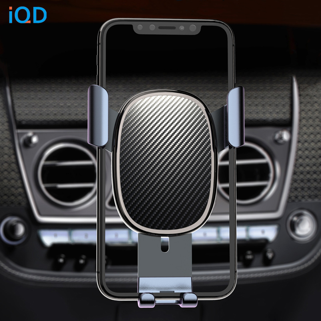 IQD Car Phone Holder Stand Gravity for iPhone Samsung Support Stand Steady Bracket for Huawei Xiaomi Mobile Phone Car Holder New 1