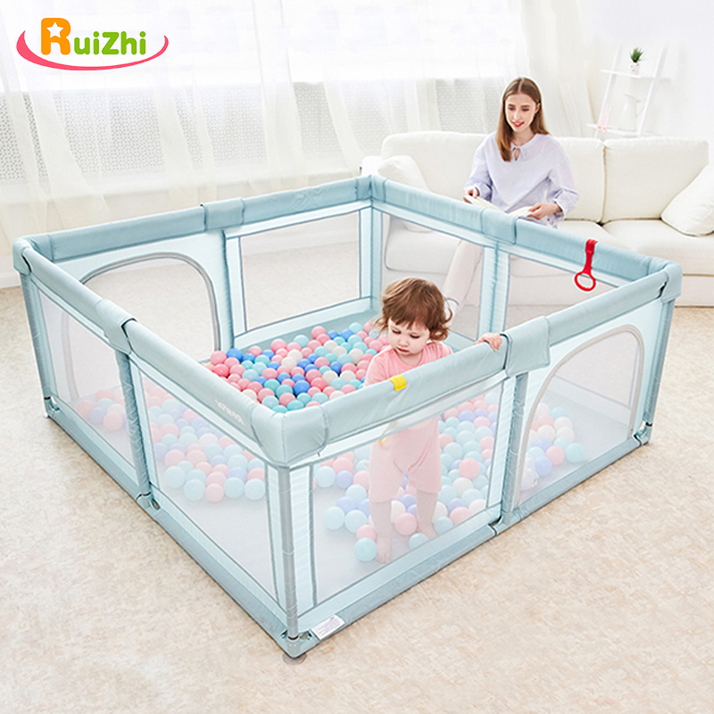 Ruizhi Newborn Baby Cloth Playpen Children Dry Ball Pool Indoor Safety Fence Kids Playground 1-3-6 Years Old Game Tent RZ1223