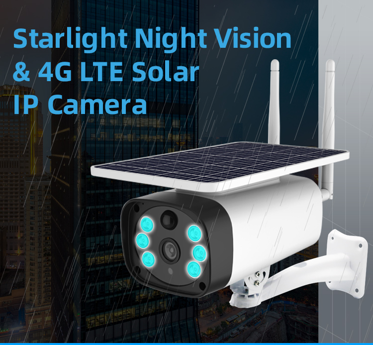 4G Wifi énergie solaire 2mp IP caméras P2P contrôle mobile couleur IR vision longue durée 4g batterie solaire caméras IP