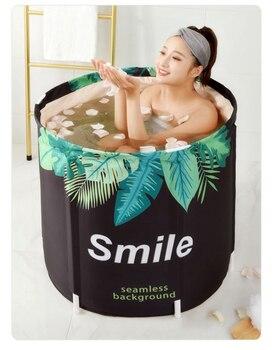 Portable Foldable Bathtub High quality Thickened Adult Inflatable Bathtub Home Single SPA Massage Pool Plastic Bathing Bucket