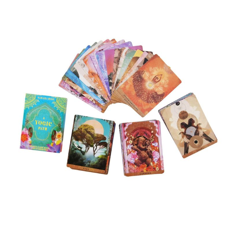 A Yogic Path Oracle Deck And Guidebook 54 Cards Tarot Game Toy Party Board Game 094C