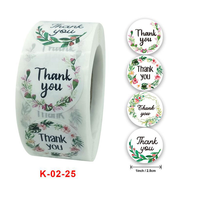 Stickers Scrapbooking Seal-Labels Package Decoration Round Thank-You Floral for Custom