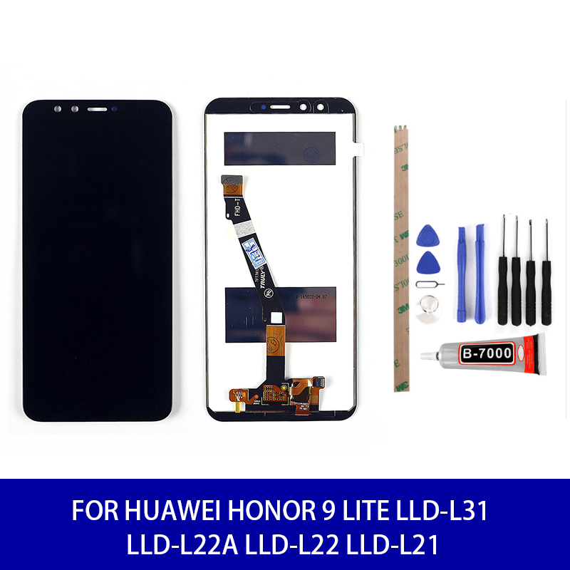 Lcd For Huawei <font><b>Honor</b></font> <font><b>9</b></font> Lite LLD-L31 LLD-L22A LLD-L22 LLD-L21 Lcd <font><b>Display</b></font> Touch Screen Assembly Screen Replacement Parts image