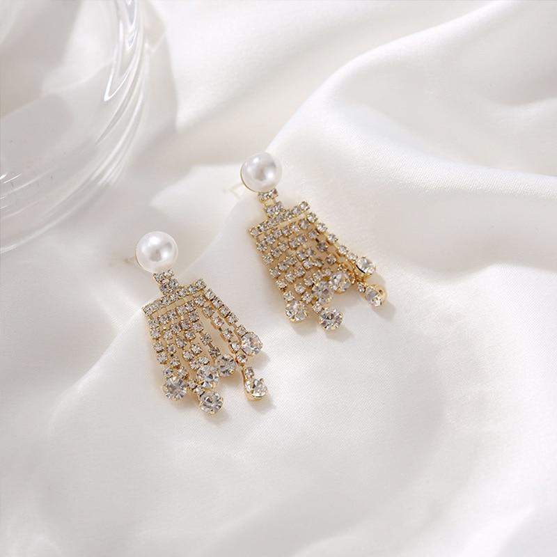 2020 fashion new Korea TV Penthouse WAR IN LIFE Tassel Earrings 김소연 Kim So-yeon elegant Earrings Eardrop