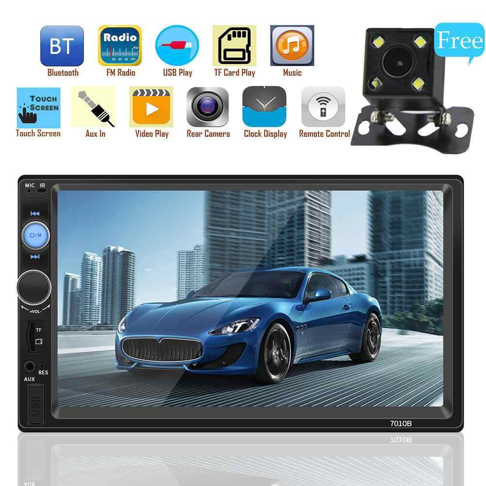 2 DIN Mobil Radio Multimedia Player MP5 Player Menyentuh Layar Mobil Audio Bluetooth USB Kamera Belakang Mobil Multimedia Player