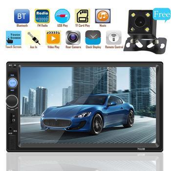 2 DIN samochód Radio odtwarzacz multimedialny MP5 odtwarzacz ekran dotykowy samochodowy sprzęt Audio Bluetooth Usb widok z tyłu kamery samochodowy odtwarzacz multimedialny tanie i dobre opinie Ai CAR FUN podwójne złącze DIN 60W*4 Other Android Metal+ABS 1024 * 600 960g Tuner radiowy Wbudowany GPs Odtwarzacze mp3