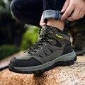 Wysokie góry Outdoor Men buty górskie wodoodporne buty trekkingowe człowiek dorywczo ciepłe buty do wędrówek górskich wspinaczka Trail Sneakers buty myśliwskie w Buty turystyczne od Sport i rozrywka na