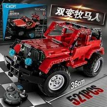 Technic Series 521+PCS Building Blocks Defender RC Car Tecnic Model SUV DIY Building Block Car Assembly Brick Toys For Children цена