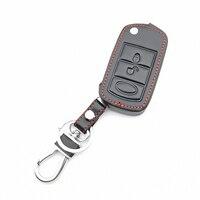 Fob chave Do Carro de Couro macio Proteja Capa para LAND ROVER Range Rover Sport LR3 Descoberta 3 Botão Folding Virar Remoto caso chave|Estojo de chaves p/ carro| |  -