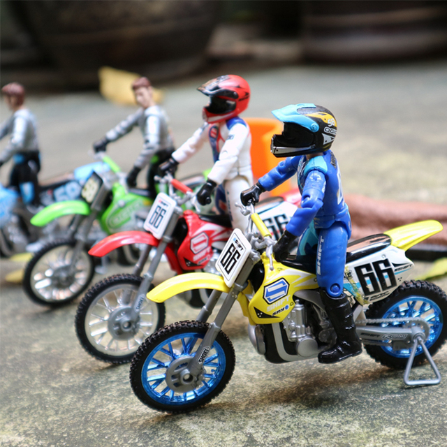 1/18 Scale Die casting Toy Motorcycle Model Racing With Joint Doll Alloy Motorcycle Car Racing Scene Platform Sand table gift