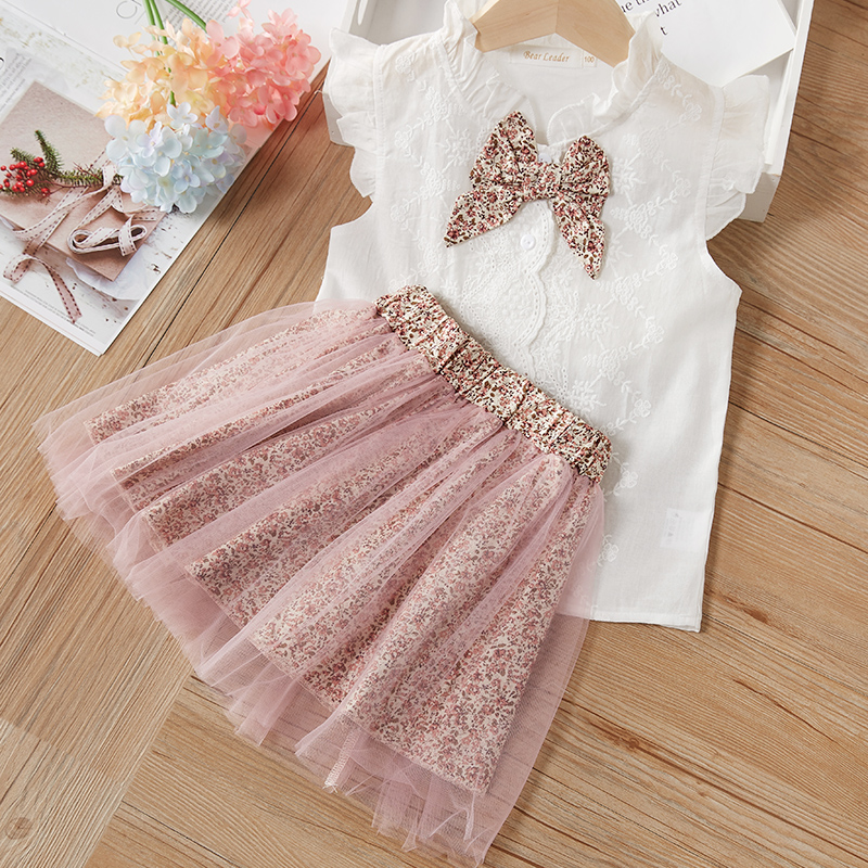 He9e5f2a1678e428f814f165f114adf54r Menoea Girls Suits 2020 Summer Style Kids Beautiful Floral Flower Sleeve Children O-neck Clothing Shorts Suit 2Pcs Clothes