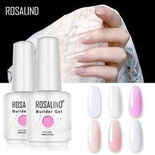 ROSALIND constructor uñas de Gel polaco claro esmaltes de uña en Gel para uñas de arte diseñado remojo Semi permanente lámpara UV para manicura