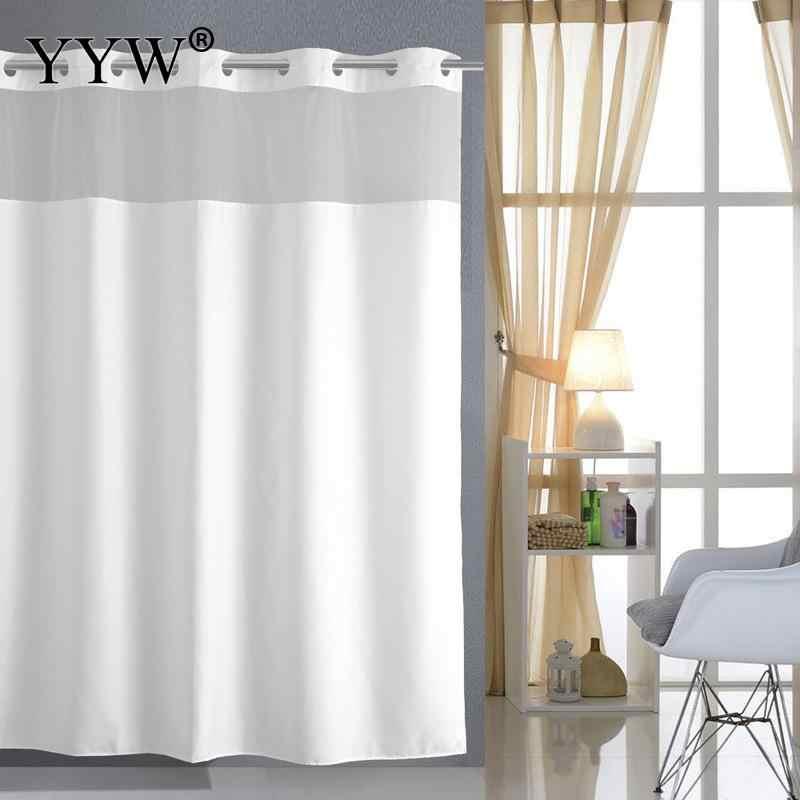 1 قطعة دش الستار فندق كبير الثقيلة الوزن حمام شاشات للماء والعفن شحن الحمام الستائر الأبيض دش الستائر