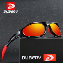 DUBERY Brand Design Mens Glasses Polarized Black Driver Sunglasses UV400 Shades Retro Fashion Sun Glass For Men D781