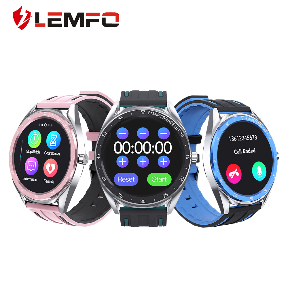 LEMFO Smart Watch 2020 T60 Intelligent Bracelet Classic Round Design Physiological Period Call Reminder Exercise Bracelet