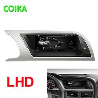 COIKA 8.8 Android 9.0 System Car Head Unit Screen For Audi A5 09 16 GPS Tape Recorder WIFI BT Google 2+32GB RAM IPS Touch SWC