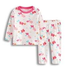 Пижамные костюмы для маленьких девочек; Пижама для новорожденных из мягкого хлопка; пижамы с героями мультфильмов для малышей; одежда для сна; комплекты одежды с длинными рукавами