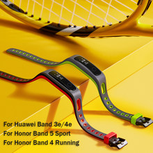 Armband Voor Honor Band 4 Running Strap Huawei Band 3e 4e Usb Charger Honor Band 5 Sport Vervanging Siliconen Band