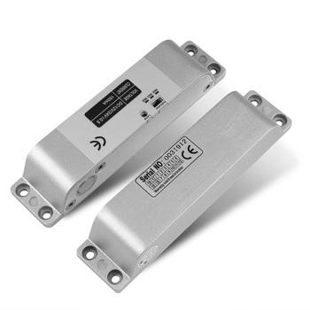 Rygiel elektryczny blokada DC 12V Fail Safe ze stopu Aluminium ze stopu Aluminium zamek kontroli dostępu z 5 przewody z opóźnieniem czasowym 0 3 6 sekund do drzwi system wprowadzania tanie i dobre opinie HBL-4 Electric Bolt Lock Hanging with Timer 12V 24V DC 0 25A 1 2A 800kg Power off to open 150x34x28mm