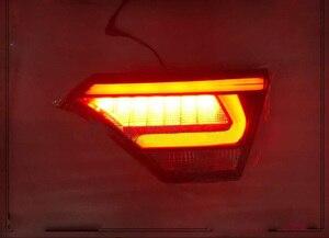 Image 2 - 1pcs auto bupmer fanale posteriore per Kia K2 KX Croce luce posteriore Rio freno 2017 ~ 2019LED accessori auto luce di coda per KX Croce luce posteriore