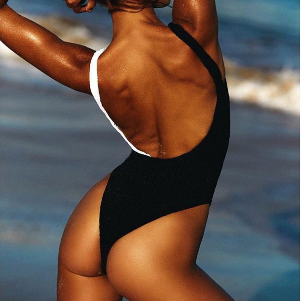 Summer Women swimwear coral Black white sexy swimsuits 2020 women swimsuit bikini set mujer one piece Bathing Suit Girls Bikinis 2