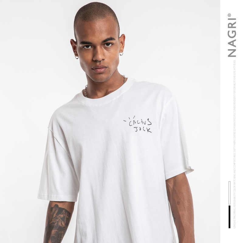 NAGRI mode Travis Scott tour kurzarm KAKTUS net Kanye West männer und frauen lose kurzarm T-shirt