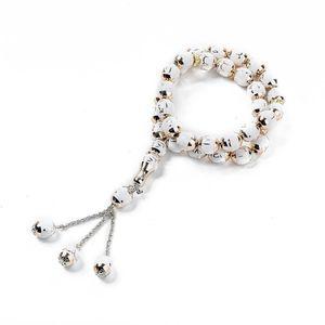 Image 5 - イスラム教徒数珠ラウンドビーズtesbihアッラーtasbeehロザリオイスラム経典tasby崇拝用品