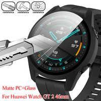 Funda protectora de pantalla completa para Huawei Watch GT 2, marco de Pc, cristal templado, mate, Protector de pantalla para PC 360, 1 ud.