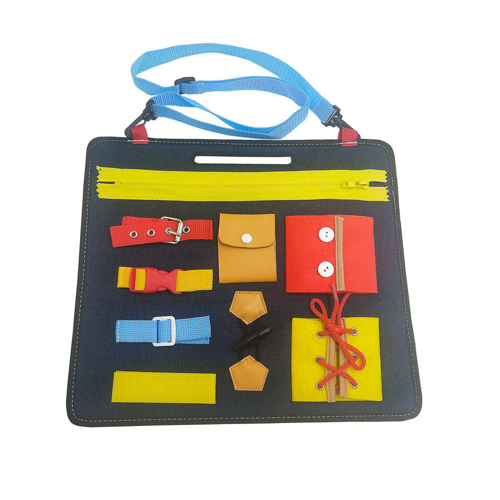 Zipper Baby Wearing Clothes Early Education Montessori Drawing Intellectual Development Buckle Gift Felt Board Toy Bucklethe