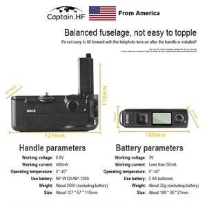Image 4 - US Captain MK A7R IV Pro הסוללה עבור Sony A7R4 A9 Ⅱ מצלמה אנכי תריס פונקציה עם אלחוטי מרחוק VG C4EM